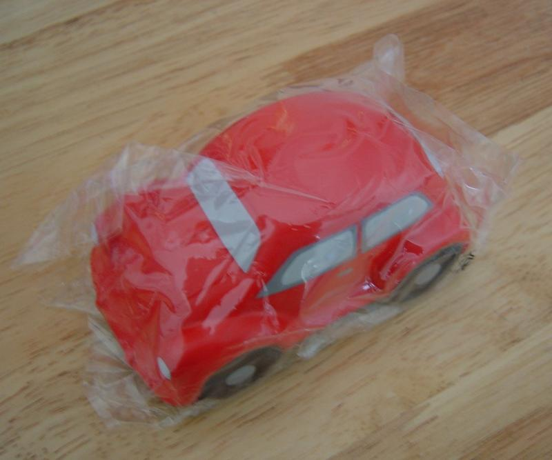 red vw bug stress ball